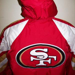 best service a5010 4ddd2 SAN FRANCISCO 49ERS STARTER Pro Line Winter Jacket Boutique